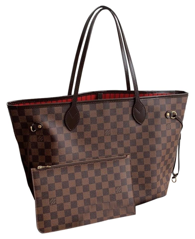 8390cf2bd6f4 Louis Vuitton Lv Neverfull Never Full Mm Pink Ballerine Canvas Tote in Damier  Ebene w