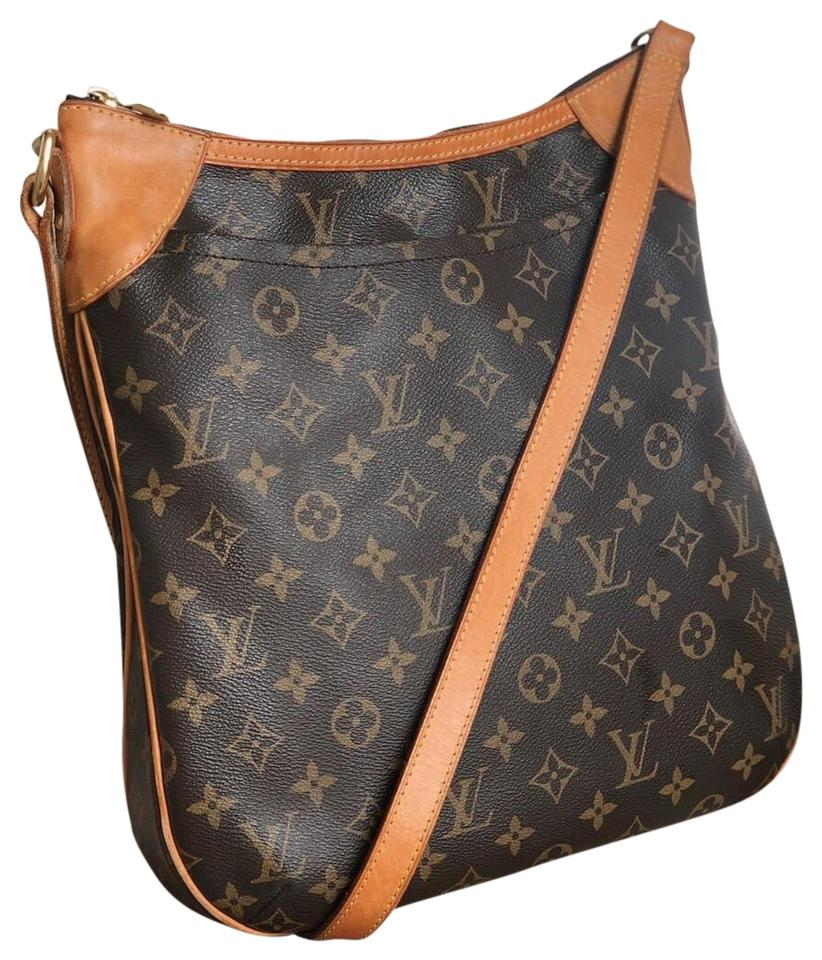55c08ceaf3da Louis Vuitton Odéon Mm Monogram Brown Canvas Cross Body Bag - Tradesy