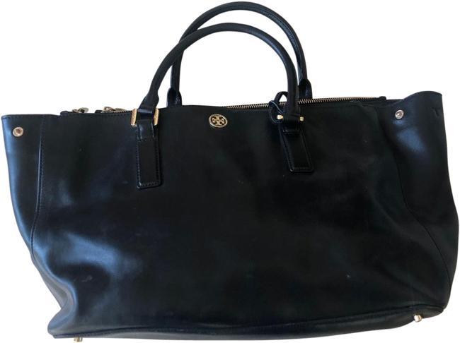 Item - Tote Robinson Medium Size Black and Gold Leather Weekend/Travel Bag