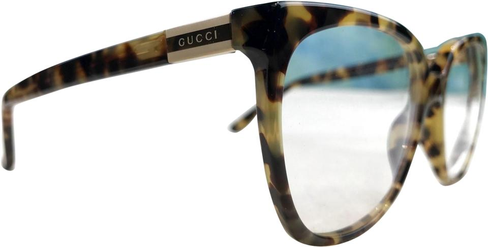 8a95d0914f3 Gucci Brown Gg 3502 S Tortoise Square Frames Clear Lenses Sunglasses ...