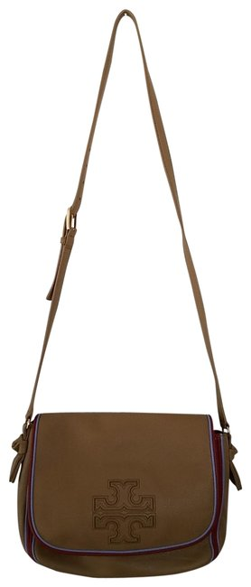 Item - Harper Stripe Tan Leather Messenger Bag