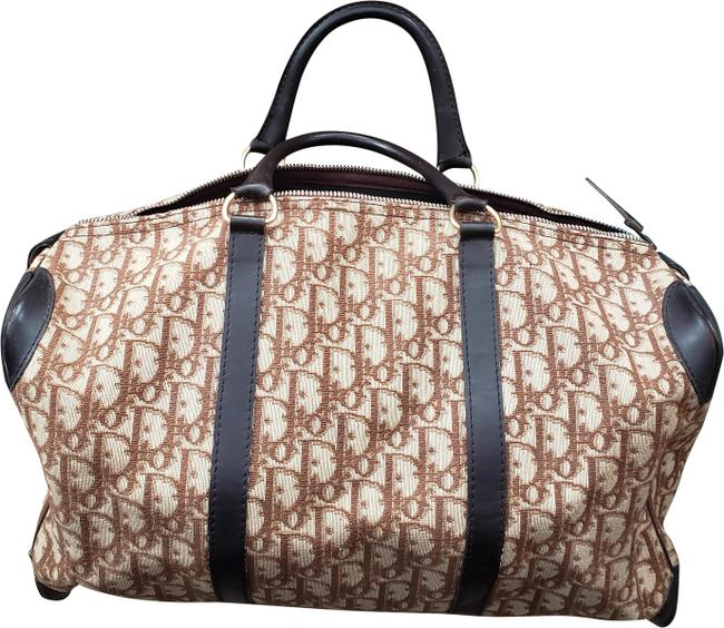 Item - Boston Trotter Large issimo Brown Canvas Weekend/Travel Bag