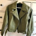 Paige Olive Green Sivan Textured Leather Moto In Peatmoss Jacket Size 0 (XS) Paige Olive Green Sivan Textured Leather Moto In Peatmoss Jacket Size 0 (XS) Image 5
