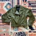 Paige Olive Green Sivan Textured Leather Moto In Peatmoss Jacket Size 0 (XS) Paige Olive Green Sivan Textured Leather Moto In Peatmoss Jacket Size 0 (XS) Image 7