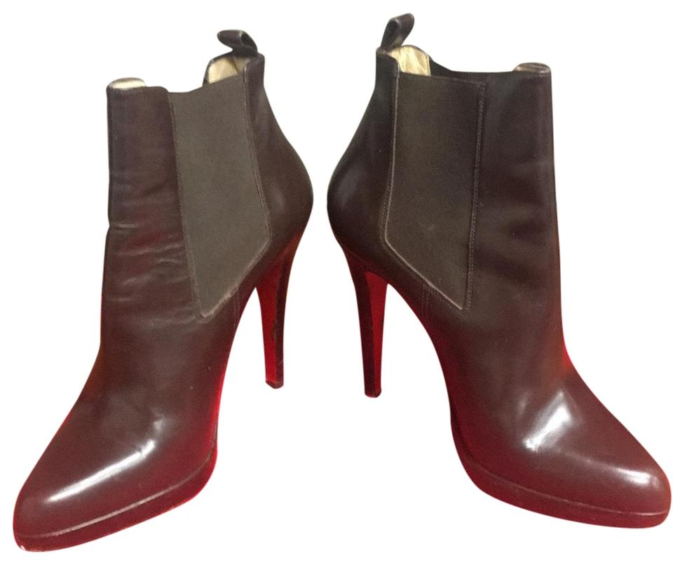3217e37dc020 Christian Louboutin Brown Crochinetta Boots Booties Size EU 37.5 ...