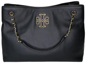 Tory Burch Pebbled Leather Satchel Leather Leather Shoulder Bag