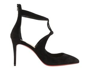 Christian Louboutin Suede Leather black Pumps