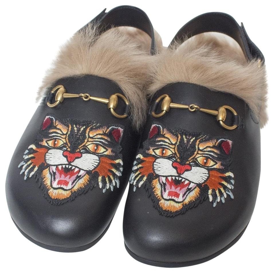 656396441358 Gucci Black Men s River Slippers Angry Cat Flats Size US 12 Regular ...