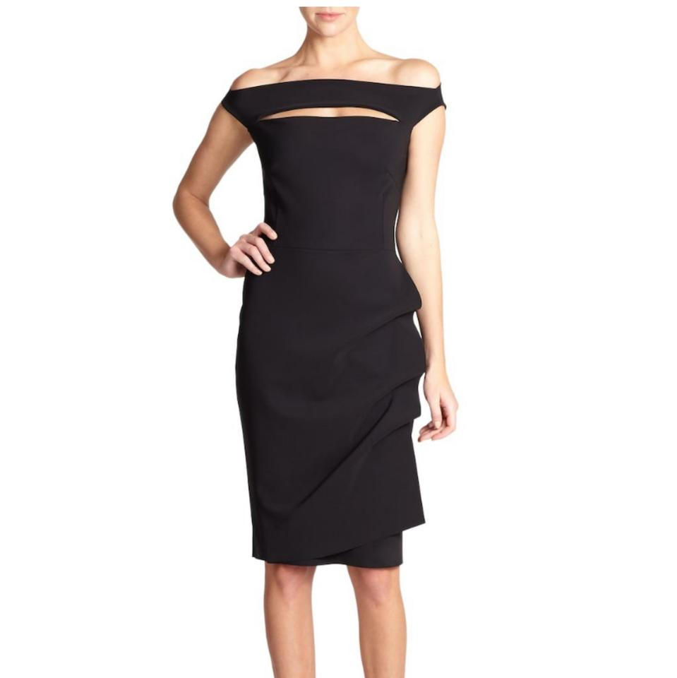 2bec5505 La Petite Robe di Chiara Boni Black Melania Short Off-the-shoulder ...