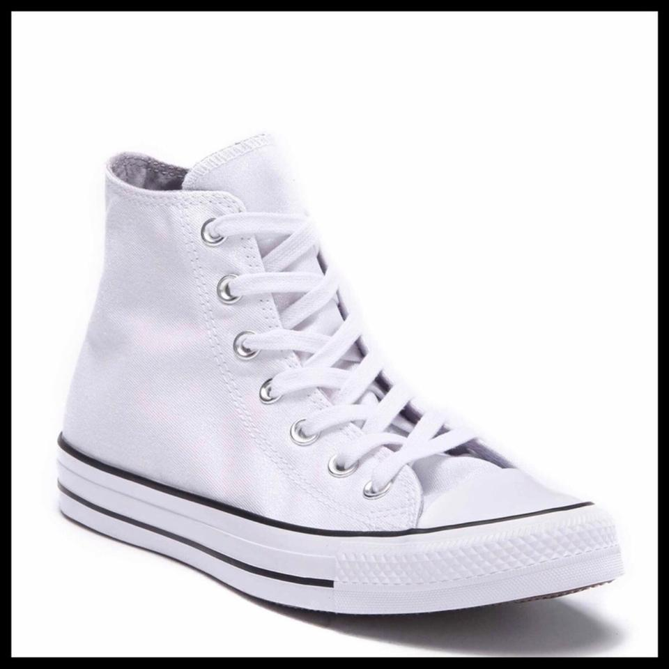 5bdb8b445b15 Converse White Black Shimmer Glitter High Tops Chucks Sneakers Sneakers.  Size  US 8.5 Regular ...