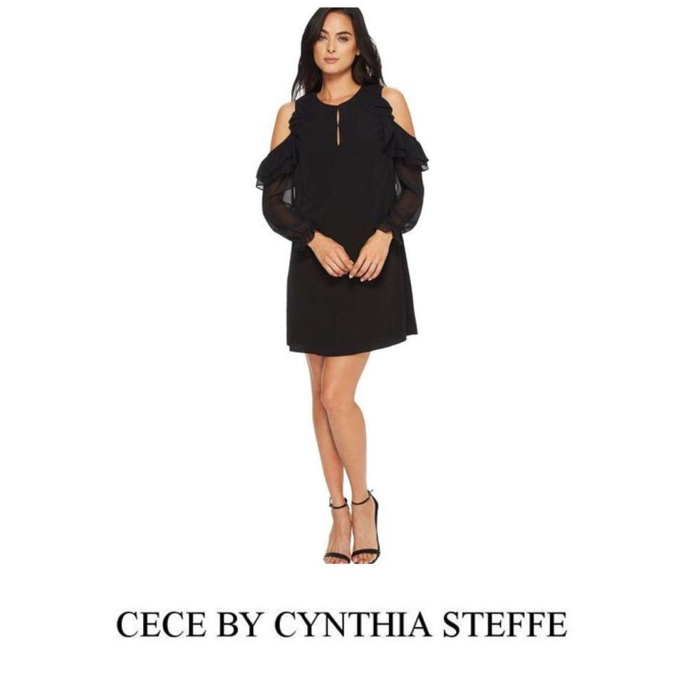 8f5f59f4cca CeCe by Cynthia Steffe Evening Cold Shoulder Shift Longsleeve Dress Image 0  ...