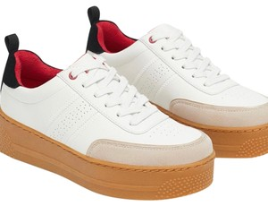 53266f7112b8 Zara Platform Snearkers Gucci Inspired Sneakers Leather white Athletic -  item med img