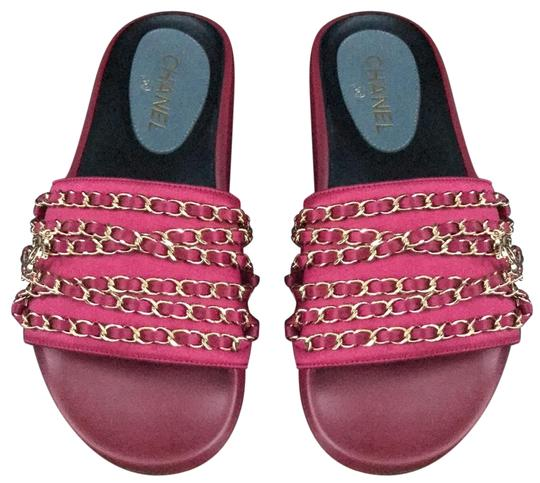 Preload https://img-static.tradesy.com/item/24903107/chanel-pink-mules-chain-slides-fuschia-cuba-gold-chain-sandals-size-eu-38-approx-us-8-regular-m-b-0-1-540-540.jpg