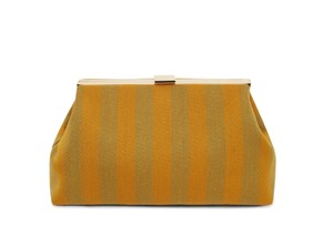 Mansur Gavriel mustard and green Clutch
