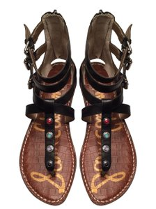 Sam Edelman T Stap Gems Gladiator Studded Genevive Black Sandals