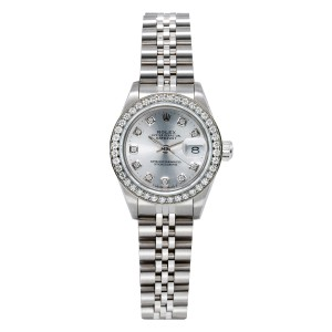Rolex Rolex DateJust 69160 26mm Silver Dial with 0.90CT Diamond Bezel