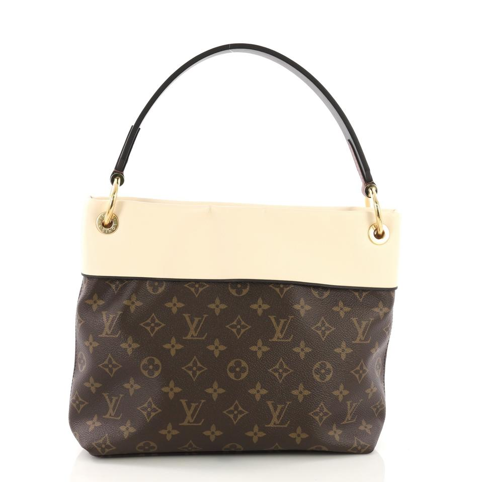 33f1cf071931 Louis Vuitton Tuileries Besace Monogram with Leather Brown Canvas ...