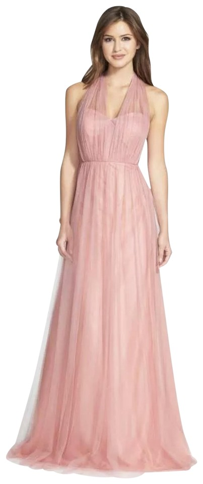 c28fff43d6d Jenny Yoo Begonia Pink Annabelle Convertible Tulle Bridesmaids Formal Dress