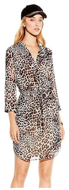 Preload https://img-static.tradesy.com/item/24903410/vince-camuto-brown-and-black-animal-printed-with-elastic-drawstring-waist-short-casual-dress-size-10-0-0-650-650.jpg