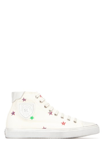 Preload https://img-static.tradesy.com/item/24903452/saint-laurent-multicolor-bedford-star-print-canvas-trainer-sneakers-size-eu-37-approx-us-7-regular-m-0-0-540-540.jpg
