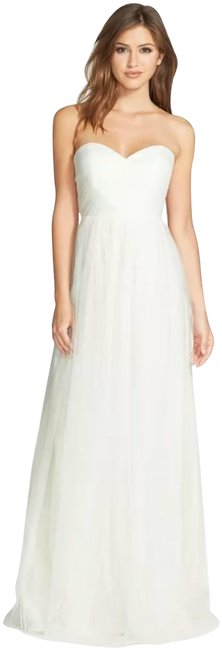 Item - Cream Annabelle Convertible Tulle Long Formal Dress Size 4 (S)