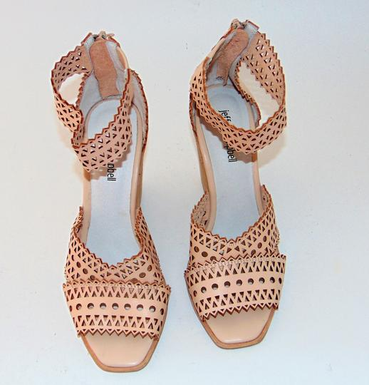 Jeffrey Campbell Tan Nude Cut Out Wedge Sandals