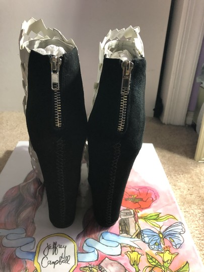 Jeffrey Campbell Black and White Wedges