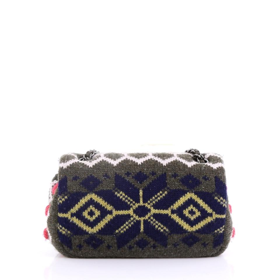 695f12a20491 Chanel Classic Flap Paris-salzburg Extra Mini Olive and Multicolor Cashmere  Cross Body Bag - Tradesy