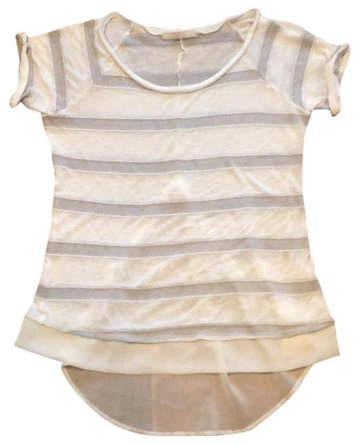 Preload https://img-static.tradesy.com/item/24903689/white-and-tan-striped-tunic-size-8-m-0-1-650-650.jpg