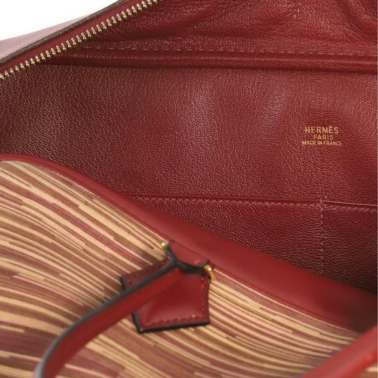 Hermès Leather Tote in Red