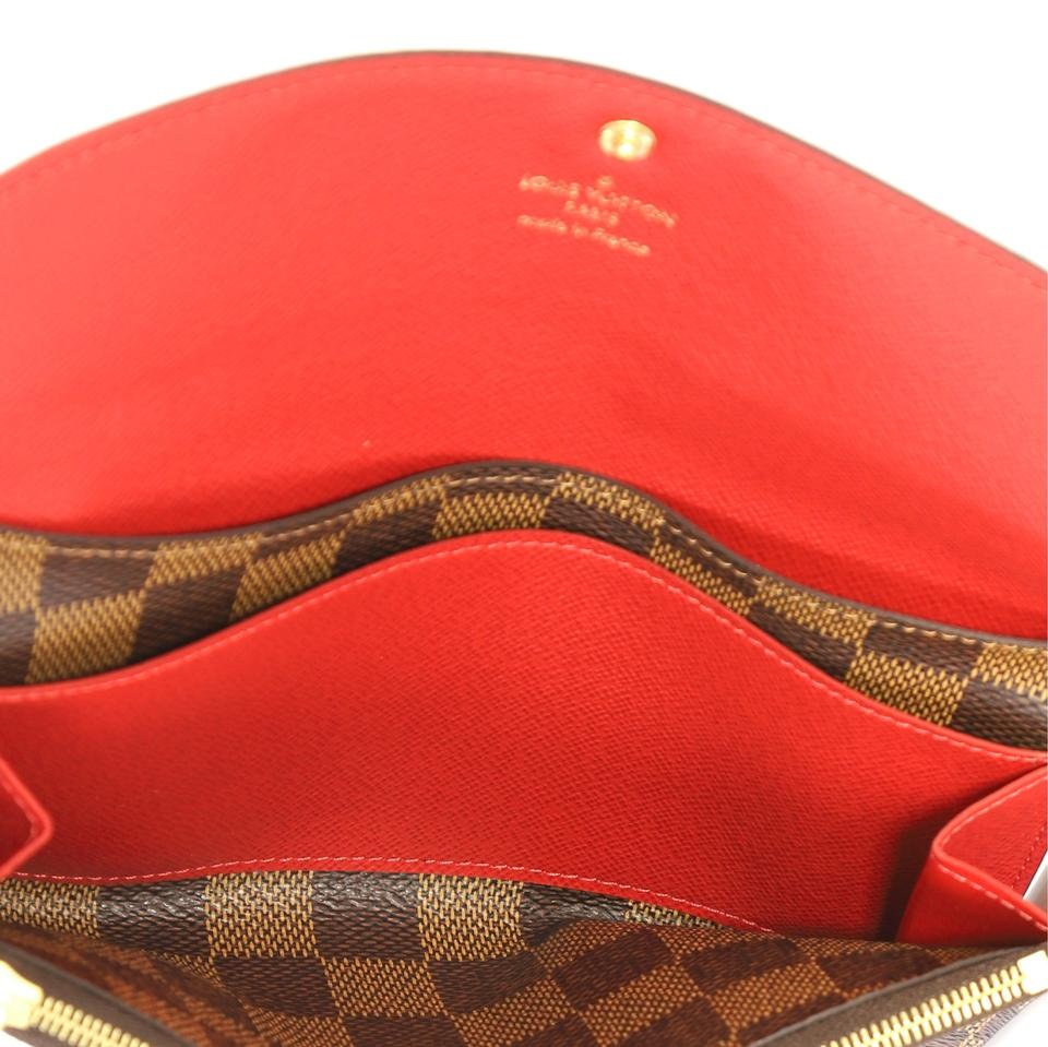 ab83bb1998e7 Louis Vuitton Emilie Wallet Damier Ebene Canvas Clutch - Tradesy