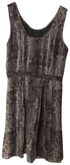 Broadway & Broome Gray Snakeskin Short Casual Dress Size 2 (XS) Broadway & Broome Gray Snakeskin Short Casual Dress Size 2 (XS) Image 1