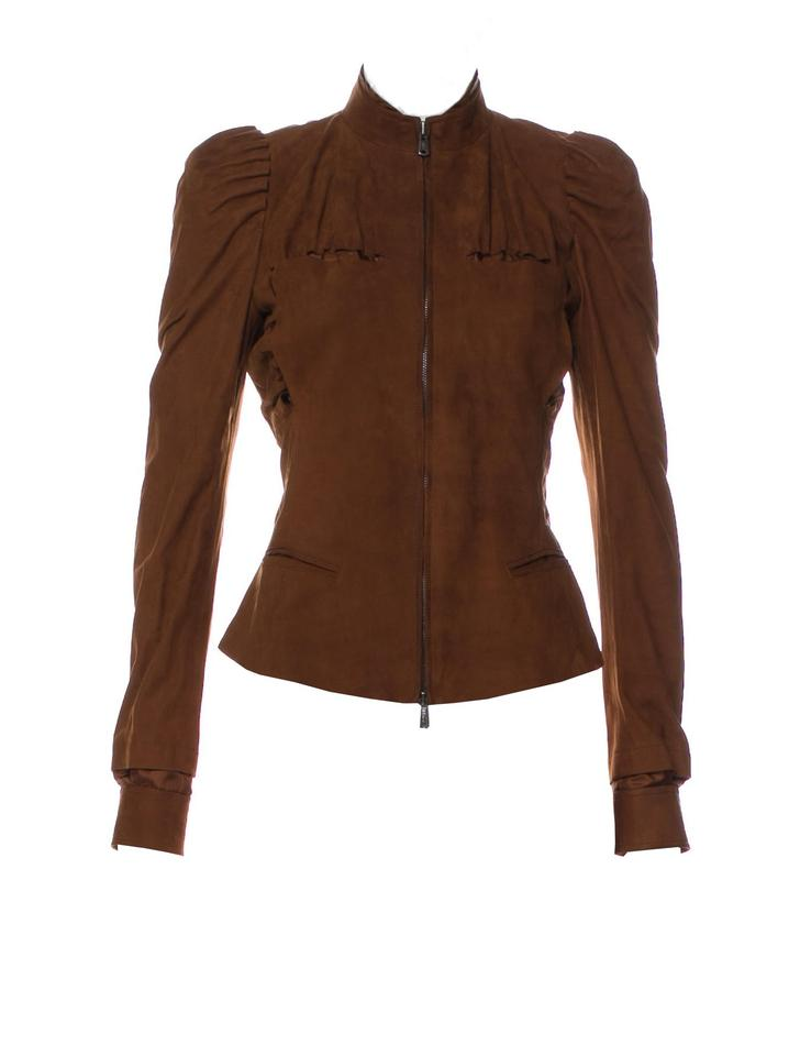 373fbc0baad Saint Laurent New Tom Ford For Ysl S/S 2003 Suede Coat Jacket Size 4 ...