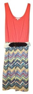 Charlotte Russe short dress Orange top with multicolor bottom on Tradesy