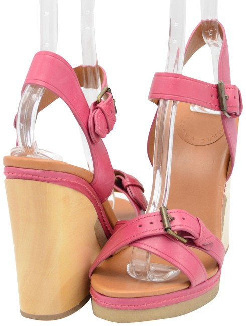 Marc by Marc Jacobs Pink Leather Sandals Wedges Size US 8 Regular (M, B) Marc by Marc Jacobs Pink Leather Sandals Wedges Size US 8 Regular (M, B) Image 1
