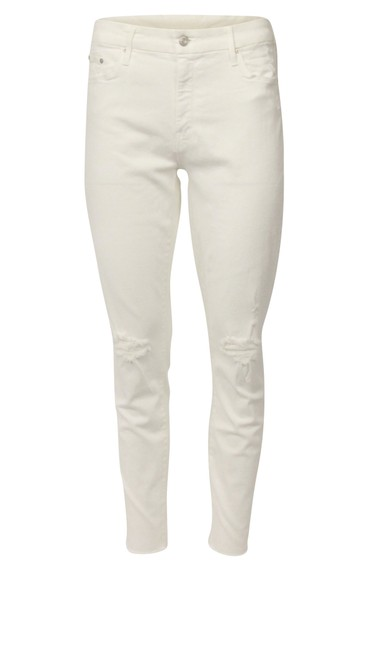 Item - White Distressed New Looker Frayed Skinny Jeans Size 32 (8, M)