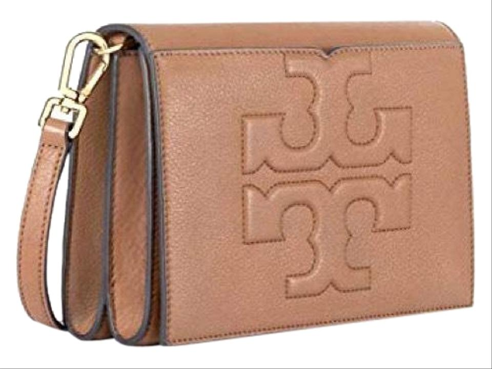 7e023537b442 Tory Burch Bombe T   Combo Brown Leather Cross Body Bag - Tradesy