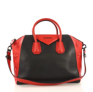 Givenchy Leather Tote in red