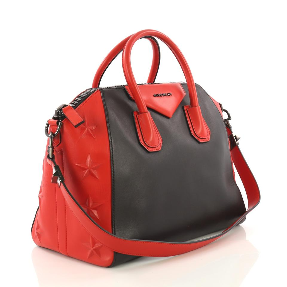 60ceef37f5b8 Givenchy Antigona 3d Embossed Medium Red Leather Tote - Tradesy