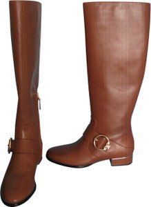 Tory Burch Festival Brown Tall Riding Vegan Leather camel Boots