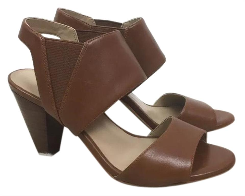 0ed4b7a8fa9 Karl Lagerfeld Brown Leather Heeled Sandals Size US 6.5 Regular (M ...