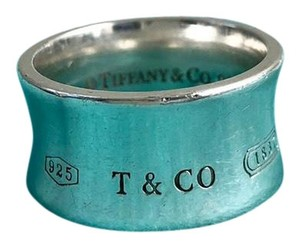 Tiffany & Co. T & Co. 1837 Silver 925 Concave WIDE Ring