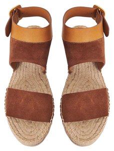 Chloé camel and brown Wedges