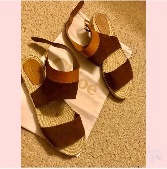 Chloé camel and brown Wedges Image 1