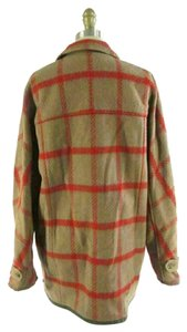 Woolrich Plaid Coat Womens Button Down Shirt Brown & Red