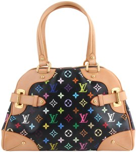 Louis Vuitton Claudia Leather Tote in multicolor