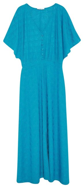 Item - Dark Turquoise Maxi Long Cocktail Dress Size 10 (M)