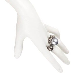 Alexis Bittar ALEXIS BITTAR Arrayed Marquis Crystal Pearly Cocktail Ring