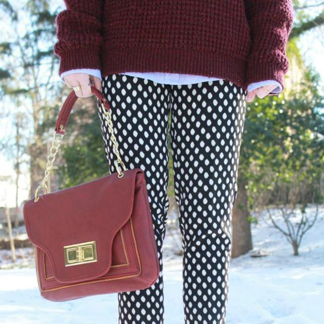 Item - Black and White Br Polka Dot Pants Size 6 (S, 28)