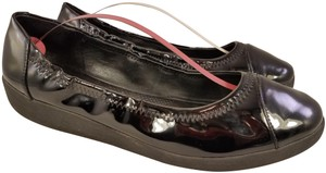 7f5c455f8ba FitFlop Patent Leather Ballet Woman Size 10 BLACK Flats
